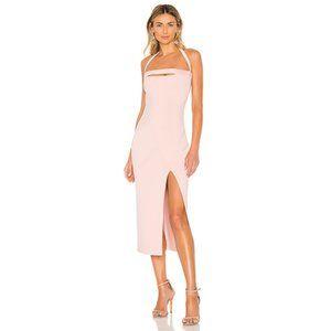 NWT BEC&BRIDGE Dominique Midi Dress Blush Pink 8